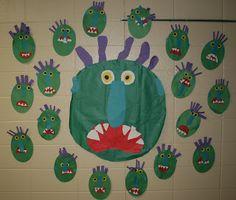 Mrs. Mayas' Kindergarten: Green Monsters & Shape Monsters