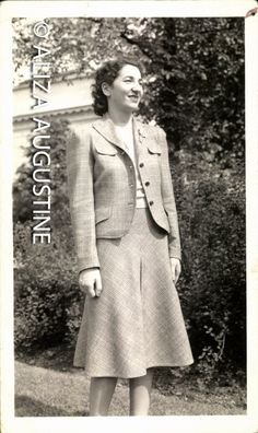 Vintage Photo, Woman in Suit, Black & White Photo, 1940's Photo, Found Photo, Old Photo, Antique Photo, Vernacular Photo  1030 by foundphotogallery on Etsy