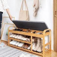 Wood Shoe Rack, Shoe Rack Bench, Diy Shoe Rack, Shoe Racks, Bamboo Shoe Rack, Shoe Storage Bench Entryway, Diy Kitchen Storage, Storage Benches, Furniture Near Me