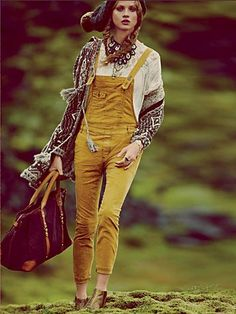 Free People Through The Woods Corduroy Overall