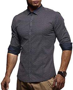 Amazon LEIF NELSON Herren Kurzarm Hemd Slim Fit Langarm Kurzarmhemd  Freizeithemd Freizeit Party T-Shirt LN3385  S, Dunkel Blau   cd028c9021