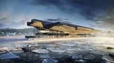 #gilles retsin flips bilbao inside out for #guggenheim #helsinki proposal - designboom | architecture