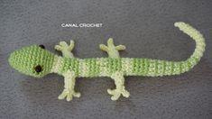 CANAL CROCHET: Lizard amigurumi free pattern.
