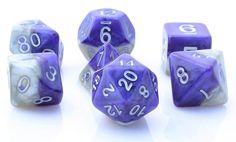 Halfsies Dice (Moonlight Sonata) RPG Role Playing Game Dice Set