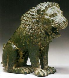 греческий бронзовый лев, 6 1/4 дюймов, Классический период, около 4 века до н.э.