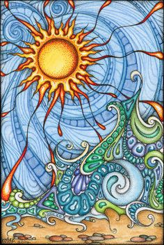 One Wave Away by TapWaterTaffy on Deviant Art. Watercolour, Ink and Pen on Bristol Board · Postcard/OSWOA 4 x 6 inches.
