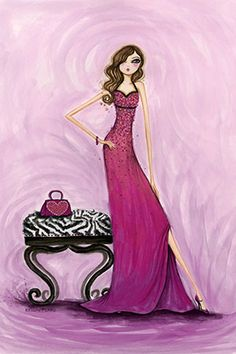 """Best dress """"Gem Dress"""" By Bella Pilar Canvas Print #BPR25"""