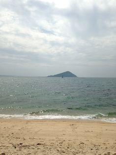Himejima Island looks forward.