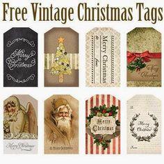 printable vintage-style Christmas tags