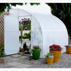 Lean to wall greenhouse