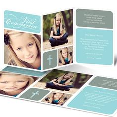 Photo Communion Invitations -- Modern Mosaic