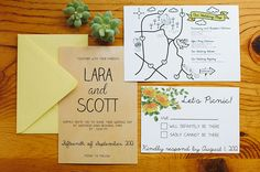 fun informal invites, perfect for a picnic reception