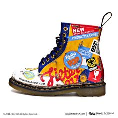 Martens X by , via Behance Dr. Martens, Trainer Boots, Shoe Art, Look Cool, Stylish Men, Me Too Shoes, Combat Boots, Trainers, Punk