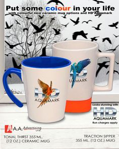 Can you get full color logos and graphics on your mugs? Looking Stunning, How To Apply, Graphics, Ceramics, Gift Ideas, Canning, Mugs, Tableware, Gifts