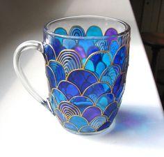 Hey, I found this really awesome Etsy listing at https://www.etsy.com/listing/241771473/glass-mermaid-mug-hand-painted-mug