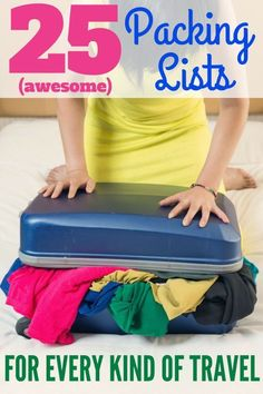 25 Awesome Packing Lists for Every Kind of Family Travel - No matter where your family vacation will take you, you'll find a packing list for the trip here. Ski trips, cruises, Disney, beach, international travel, and many more.