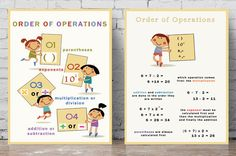 Maths Posters  Order of Operations by PalaeoPrintsStudio on Etsy
