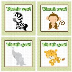 Jungle Thank You Labels Jungle Favor Tag Monkey Labels Elephant Labels Cheetah L. - Real Time - Diet, Exercise, Fitness, Finance You for Healthy articles ideas Zoo Birthday Cake, Safari Theme Birthday, Animal Birthday, 1st Birthday Parties, Jungle Theme, Thank You Labels, Thank You Tags, Zebra Labels, Baby Boy Shower