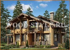 Проект дома Шале - Wood-Style.ru