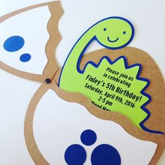 Dinosaurio cumpleaños invitaciones invitaciones de la por 3FeetTall