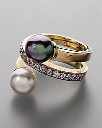 Pfeffinger Ring mit Perlen