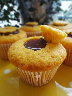 Cupcakes de Cenoura e Trufado de Chocolate.