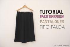 DIY Pantalon Culotte, ¡Tutorial y patrones gratis! Coulottes, Made Clothing, Couture, Trousers, Pants, Diy Clothes, Diy Tutorial, Inspiration, Shorts