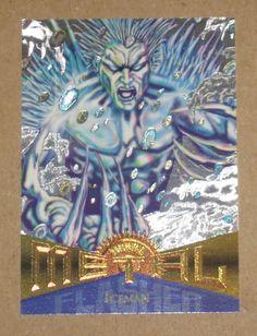 Iceman - 1995 Marvel Metal: Silver Flasher Card (Fleer Corp) #96