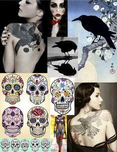 sculls & ravens / Tattoo's