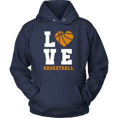 Basketball Love T-Shirt Hoodie | Sport Design Apparel