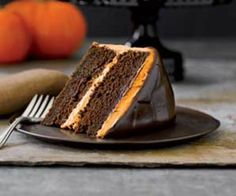 A touch of pumpkin gives this bewitching cake a look and taste that reflects the season.
