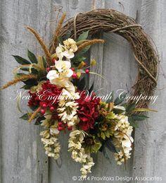 Fall Wreath, Floral Wreath, Victorian, Garden, Autumn Décor, Thanksgiving, Elegant Holiday Wreath on Etsy, $149.00