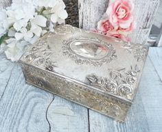 Vintage / Antique Silver Plated Shabby Chic by HuckleberryVntg, $39.00