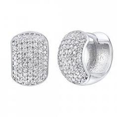Luxusní stříbrné náušnice - široké kruhy se zirkony Engagement Rings, Boho, Crystals, Diamond, Jewelry, Rings For Engagement, Wedding Rings, Jewlery, Jewels
