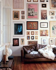 home gallery with unique collection of artwork. / sfgirlbybay