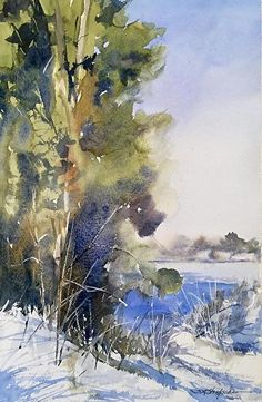 And Then The Sun Came Out by Sandy Strohschein Watercolor ~ 16 x 12