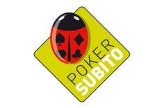 Logotipo del sito di poker on line POKER SUBITO Italia Poker, Graphic Design, Signs, Decor, Logo, Italia, Decoration, Shop Signs, Decorating