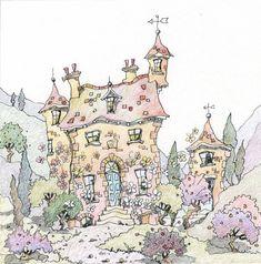 Maison de Maitre 1 by MichaelPowellArt on Etsy