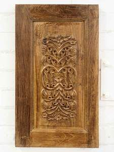 Carved Wooden Cupboard Door Panel From Kashmir Buy From Silkroadgallery Co Uk Wooden Cupboard Carved Doors Carving