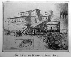 Taylor Coal Mine No. 2 and washer plant at Herrin