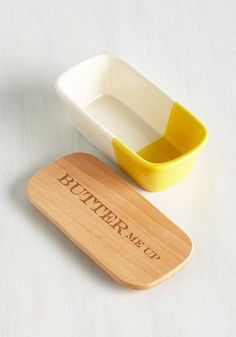 After all is Spread and Done Butter Dish. You can organize your kitchen decor any which way, but in the end, this retro butter dish will win the premier counter spot! #multi #modcloth