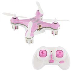 Mini quadricoptère drone hélicoptère miniature jeu radiocommandé rose