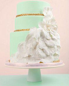 mint green modern cake