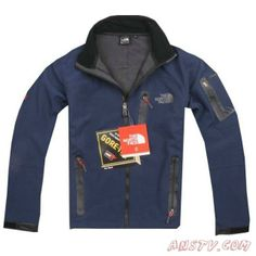 Hommes The North Face Pro Shell Veste Water Bleu Sortie TNF6593