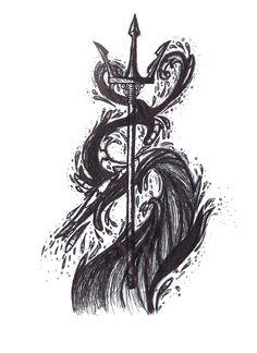 poseidon trident art - Google Search
