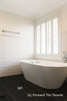 Unbelievable Tips: White Wainscoting Wood Trim wainscoting styles bathroom.Wainscoting Around Windows Light Fixtures wainscoting colors man cave. Bathroom Renos, Laundry In Bathroom, Bathroom Layout, Bathroom Wall, Bathroom Interior, Small Bathroom, Bathrooms, Bathroom Stuff, Family Bathroom