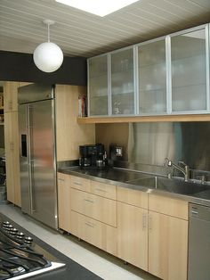 Ikea kitchen - its a different look with the glass up top
