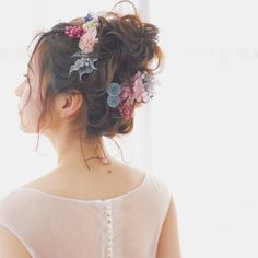 smoky pink+spice… ラフスタイルにぴったり✨ #ウェディング#wedding#ウェディングヘア#ブライダル #bridal #ブライダルヘア #結婚式#結婚式ヘア#結婚式セット#結婚式準備#ヘアアレンジ #ヘアセット #プリザーブドフラワー #ヘッドドレス #前撮り #ウェディング前撮り #後撮り