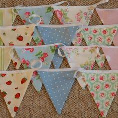 bunting- pretty fabric combinations