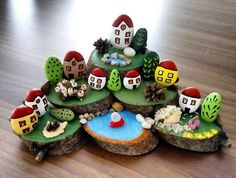 Pebble Art Diy Projects Inspiration 32 New Ideas Stone Crafts, Rock Crafts, Diy And Crafts, Crafts For Kids, Arts And Crafts, Pebble Painting, Pebble Art, Stone Painting, Caillou Roche